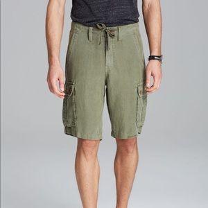 True Religion Mens Cargo Shorts Recon Linen 28